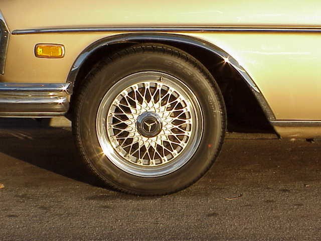1969 300 SEL 6.3 with 16  in HRE wheels 215_55-16 tires Front