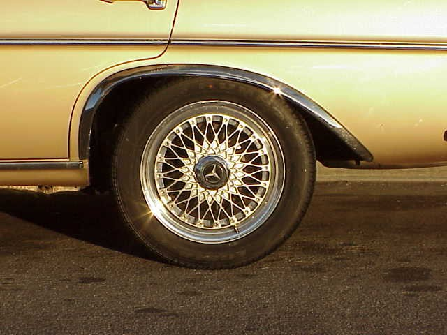 1969 300 SEL 6.3 with 16  in HRE wheels 215_55-16 tires Rear