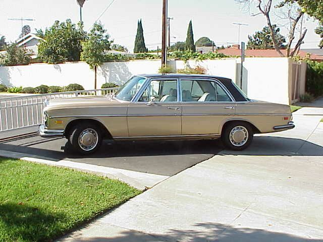 My 1969 300 SEL 6.3   Gold Body - Tobacco brown top
