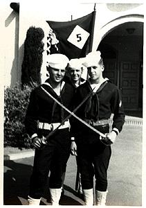 Quartermaster Price (right) in boot camp in San Diego in May 1950